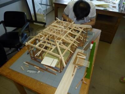 白寿庵模型製作 2011-1
