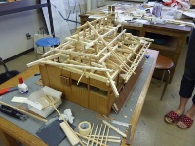 白寿庵模型製作 2011-7